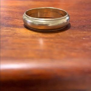 Solid 14k gold wedding band